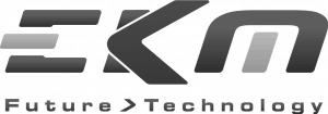 Ekm logo mustavalkoinen