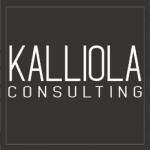 Kalliola consultin logo mustavalkoinen